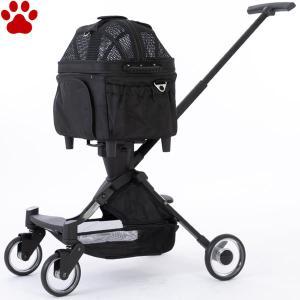 ピッコロカーネ 小型犬用 3WAY ペットカート ELMO II エルモツー ブラック お出かけ キャリーバッグ ペットストローラー カート 黒 エルモ2|tokoton-dogfood