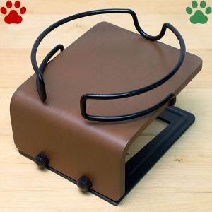 アニーコーラス グルメフリーテーブル 150 犬 猫 食器台 食器テーブル 食器スタンド おしゃれ かわいい シンプル 無地 木製 ブラウン 茶|tokoton-dogfood