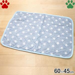 接触冷感 星柄マット 65×45cm CM-34 ブルー ペット用 犬用 猫用 春 夏|tokoton-dogfood