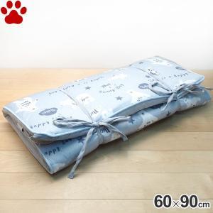 接触冷感 折りたたみクッション シロクマ柄 60×90cm IA-14 ブルー ポーラルベアー しろくま柄 マット 春 夏|tokoton-dogfood