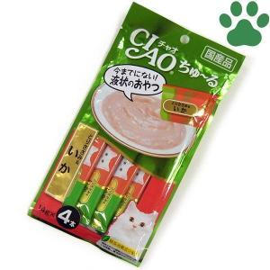 【1】 CIAO 猫用 おやつ ちゅーる とりささみ&いか 14g X 4本入り 国産 保存料不使用 いなば チャオ