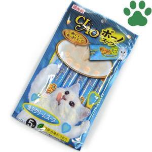 【2】 CIAO 猫用 おやつ ボーノ スープ 魚介クリームスープ 17g X 5本入り 国産 保存料不使用 いなば チャオ
