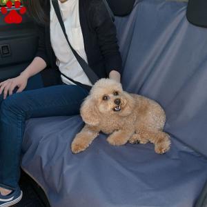 リッチェル おでかけドライブシート ブルーグレー 後部座席専用 犬 防水 汚れ 被毛 オシッコ 座席 車 お出かけ シート シーツ Richell|tokoton-dogfood