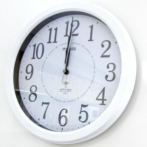 【50】 mag 電波 掛け時計 アレース ホワイト W-6...