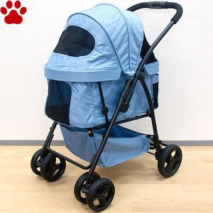 GEX OSOTOバギー quatre キャトル アクアブルー 超小型犬 小型犬 中型犬 4輪 折りたたみ ペットカート お出かけ ブルー 青 ジェックス|tokoton-dogfood