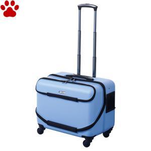GEX OSOTOキャリー roller ローラー  M スカイブルー 小型犬 キャリーケース キャリーバッグ オソトローラー お出かけ 青 ジェックス|tokoton-dogfood