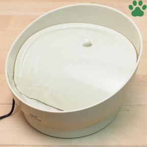 GEX ピュアクリスタル コパン 猫用 950mL ベージュ 専用フィルター1枚付き 循環式 給水器 給水機 フィルター式 オシャレ ジェックス|tokoton-dogfood
