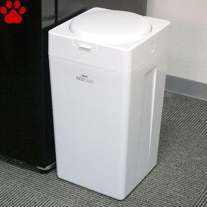 GEX デオケア 消臭ペール 犬用 本体 専用消臭袋10枚付き 犬 ペット ゴミ箱 処理ポット 防臭 消臭 シンプル オシャレ ホワイト ジェックス|tokoton-dogfood