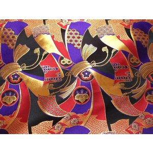 京西陣・金襴 生地 束ねのし文(紫) 10cm単...の商品画像