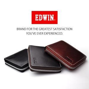 メール便発送 送料無料 EDWIN二つ折りラウンド財布 牛革 ウォレット ジッパー /エドウィンラウンド0510484|toku109shop