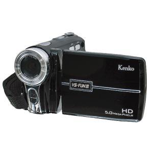 Kenko ハイビジョン・軽量・LEDライト・電池式・単4・動画・静止画・自撮り・500万画素・8倍...