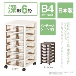収納ボックス アプロスB4 深型 6段 レターケース 書類ケース 収納BOX 収納ケース キャスター付き メーカー直送  代引き不可 送料無料【252】/|toku109shop