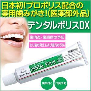 メール便 送料無料 歯肉炎 歯槽膿漏の予防 歯みがき ハミガキ 歯ブラシ /デンタルポリスDX 80g|toku109shop