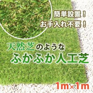 超高密度 リアル人工芝 1m×1m ロールタイプ 3.5mm 芝生 お庭 ベランダ 透水性 保水性 カット/ふかふか人工芝|toku109shop