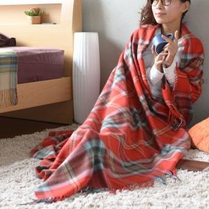 フリンジ付 ストール マフラー 毛布 ひざ掛け ウールに最も近い繊維アクリル100%!伝統のタータンチェック!フリンジ付ブランケット!大判ストール!シングル|tokumen