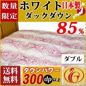 【ホワイトダックダウン】85%! ニューゴールドラベル羽毛ふとん ペイズリー柄 ダウンパワー300dp以上! 品質の証!安心の日本製 送料無料!ダブルサイズ|tokumen