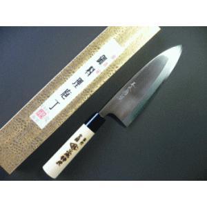 霞(カスミ)仕上げ出刃包丁 180mm「三木特撰」 TD402D|tokusan55