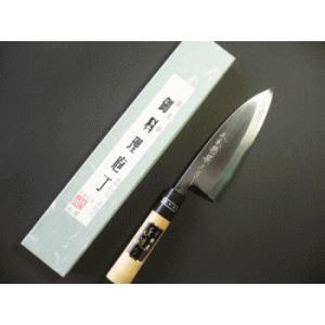 本職用出刃包丁(白鋼) 150mm水牛柄付「三木特撰上作」TD403B|tokusan55