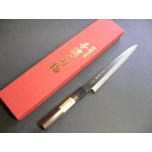 刺身包丁(正夫・柳刃包丁)ステンレスゴールド 210mm「三木特撰上作」TS505A|tokusan55