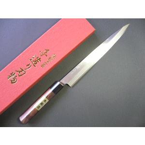 刺身包丁(正夫・柳刃包丁)ステンレスゴールド 240mm「三木特撰上作」TS505B|tokusan55