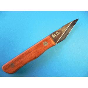 名匠 一刀流作 切出ナイフS型 ウッドタイプ 片刃 KW-1|tokusan55