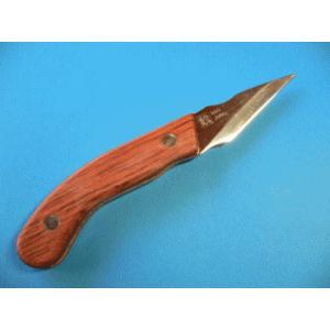 名匠 一刀流作 切出ナイフR型 ウッドタイプ 両刃 KW-2|tokusan55