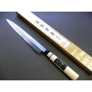 霞仕上(カスミ)刺身包丁(正夫・柳刃包丁)左利き用 240mm「三木特撰」 TN502B|tokusan55