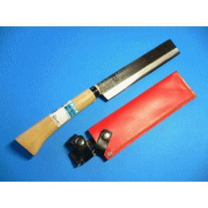 木柄 竹割り鉈(ナタ)鋼付 サック付  N-18  165mm|tokusan55