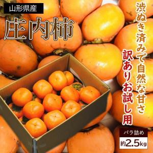 送料無料 山形県産 訳あり庄内柿 2.5kg