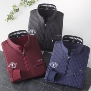 SALOON EXPRESS/サルーンエクスプレス シャドーストライプハイネックシャツ3色組 AO-0027|tokusenya