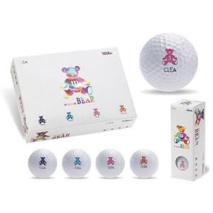ウイルソン ベア クレア(WILSON BEAR CLEA)ゴルフボール 1ダース|tokusenya