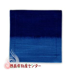 藍染めコースター(段染め小敷)本場阿波徳島の伝統工芸品 天然の藍染製品!父の日 母の日 敬老の日|tokushima-shop
