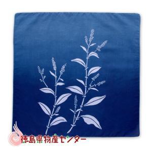 藍染めハンカチ(藍花ぼかし)本場阿波徳島の伝統工芸品 天然藍染製品!|tokushima-shop
