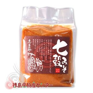 七穀みそ1kg【志まやの健康自然味噌】|tokushima-shop