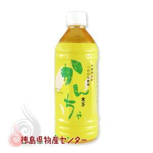 かんちゃペットボトル500ml(徳島県宍喰寒茶葉100%使用 寒茶)|tokushima-shop