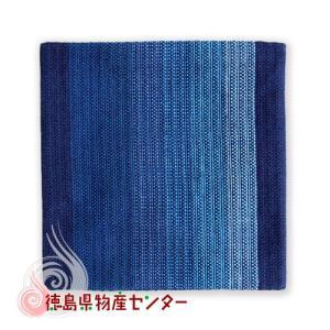 阿波しじら織 コースター藍縞No1|tokushima-shop