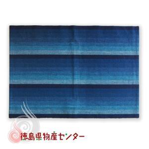 阿波しじら織りランチョンマット藍縞No1 tokushima-shop
