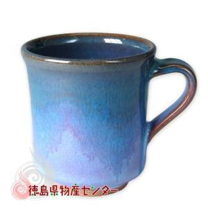 大谷焼 陶器 マグカップ(オリベ 長型)和食器/コップ/ティーカップ/日本製/徳島県伝統民工芸品/贈答/ギフト tokushima-shop