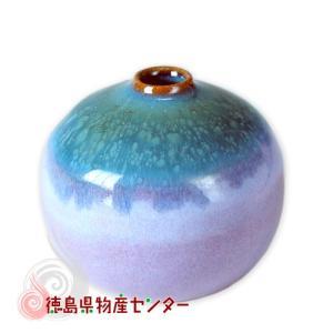 大谷焼 一輪挿し 小さな花瓶(短/オリベ)和陶器/日本製/徳島県伝統民工芸品/贈答/ギフト tokushima-shop