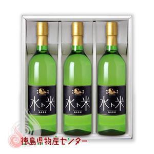 ナルトタイ 純米原酒 水ト米 720ml×3本セット(徳島の地酒 日本酒 鳴門鯛の本家松浦酒造)|tokushima-shop