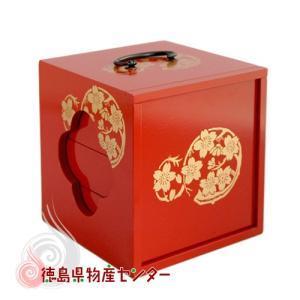 【送料無料】遊山箱(ゆさん)朱色 懐かしい手提げ弁当箱は徳島の文化・風習!|tokushima-shop
