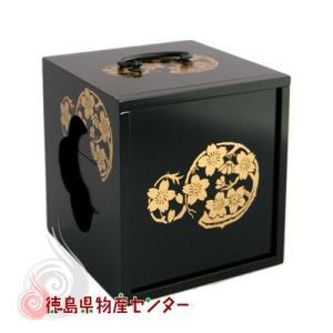 【送料無料】遊山箱(ゆさん)黒色 懐かしい手提げ弁当箱は徳島の文化・風習!|tokushima-shop