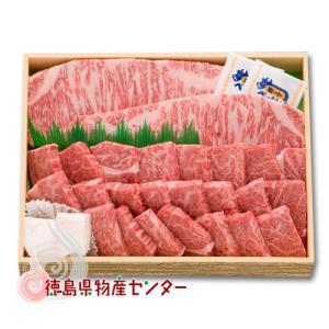 送料無料 阿波牛特選ギフトセット1kg最高級黒毛和牛(サーロインステーキ&ロース焼肉) 肉/冷凍便同梱不可/贈答/お中元/お歳暮/記念日/内祝い|tokushima-shop