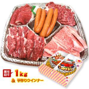 送料無料 黒毛和牛の焼肉ハッピーパーティセット1kg 4〜5人前 肉/国産/徳島県産/冷凍便同梱不可/父の日/母の日/誕生日/内祝い|tokushima-shop