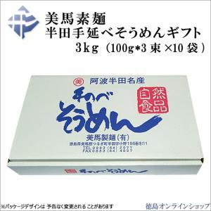 美馬素麺 半田手延べそうめんギフト 3kg(100g*3束×10袋)