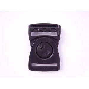 YKK LB38Q プラスチック バックル 黒 38mm巾用 ベルトの長さ調節などに