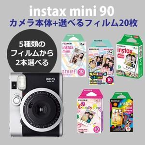 富士フィルム(フジフィルム)チェキ instax mini90 ネオクラシック本体1台+フィルム20枚が選べる♪(可愛いセット)|tokutokutokiwa