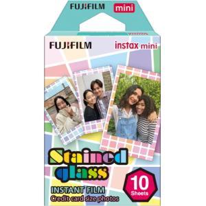 FUJIFILM インスタントカラーフィルム チェキ instax mini ステンドグラス 絵柄フイルム|tokutokutokiwa