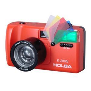 HOLGA カラーフィルター内蔵ストロボ付き K-200Nフィッシュアイ レッド K200N/FELRD