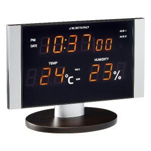 アデッソ 置き掛け兼用 LED温湿度電波クロック オレンジ ADESSO C-8305OR|tokutokutokiwa